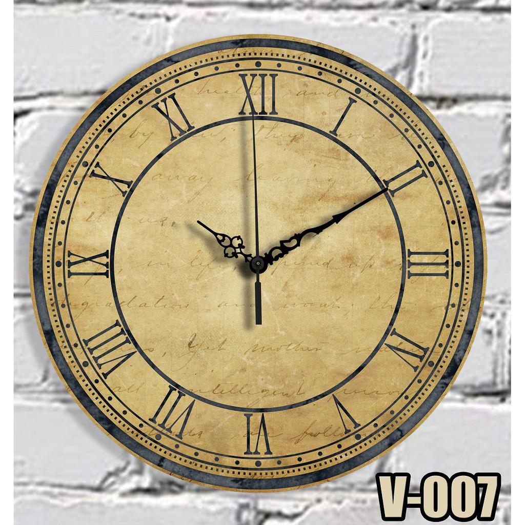 Jam Dinding Vintage Klasik Dekoratif Diameter V 007 Shopee Indonesia