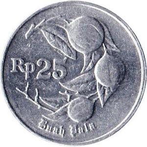 uang kuno koin logam 25 rupiah indonesia tahun 1991 1992 1994 {STOK TERBATAS}
