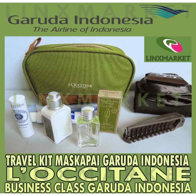 TRAVEL KIT L'OCCITANE EN PROVENCE MASKAPAI GARUDA INDONESIA AKSESORIS   Shopee Indonesia