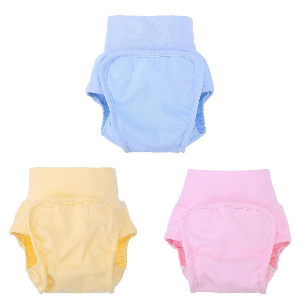 Cute Baby Diapers Reusable Nappies Infants Waterproof Cotton Training Pants High