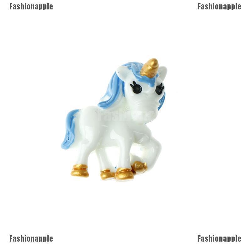 Ornamen Kuda Unicorn Aneka Model Bahan Resin Cabochon Untuk