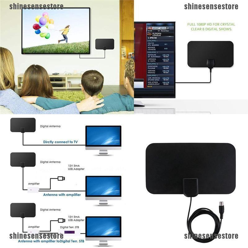 Best Amplified 50-90 Mile TV Antenna Newest Version 4K 1080P HD Indoor Digital