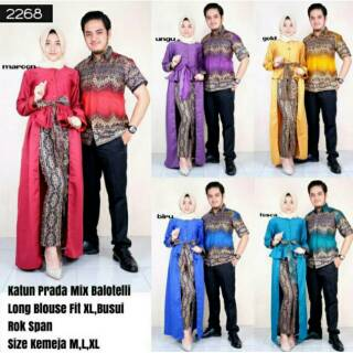 Couple Princess Batik / Setelan Kebaya Modern / Dress Couple Batik / Sarimbit