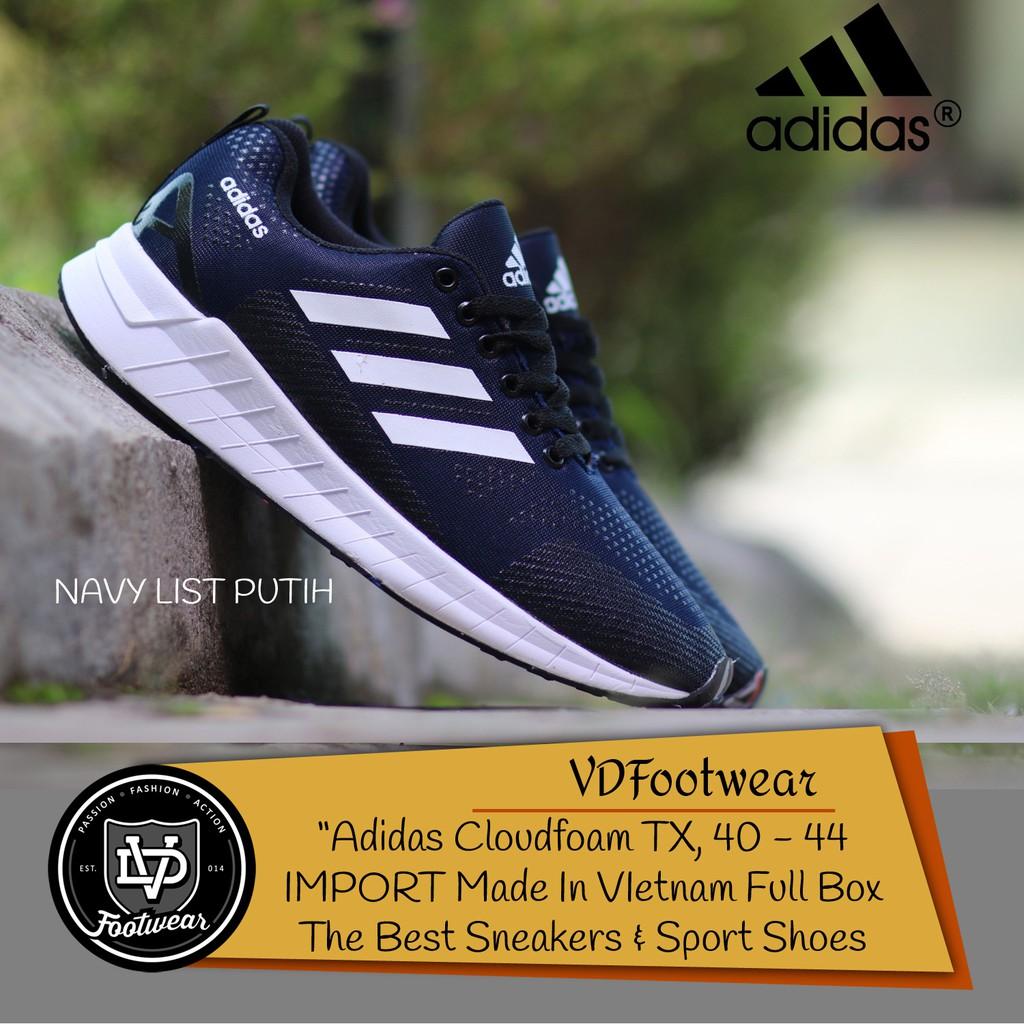 VD  Adidas Cloudfoam Women Sepatu Wanita Olahraga Casual Sneakers Running  Senam Jogging  c8ce2575e0