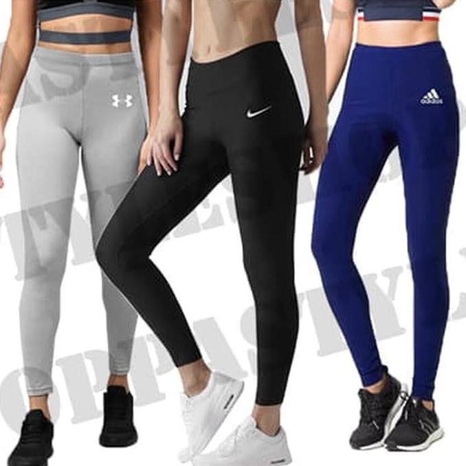 Celana Leging Sport Sepeda Gowes Premium Basic Brand Legging Women Celana Legging Panjang Wanita Shopee Indonesia