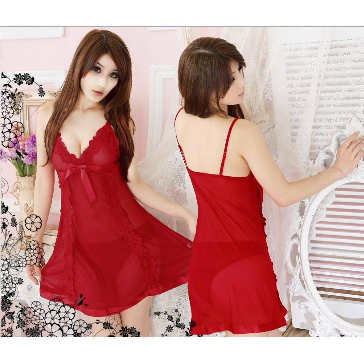 6954296764b [Bayar Di Tempat]Lebaran Tembus Pandang Tanpa Lengan Dress Lingerie Mini  Sexy Bahan Lace