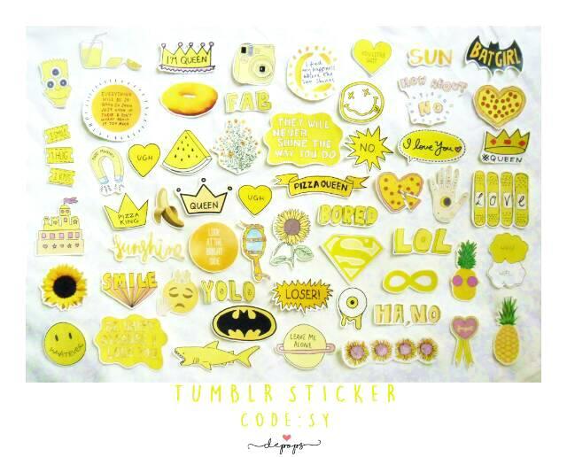 Gambar Aesthetic Tumblr Kuning Dunia Gambar