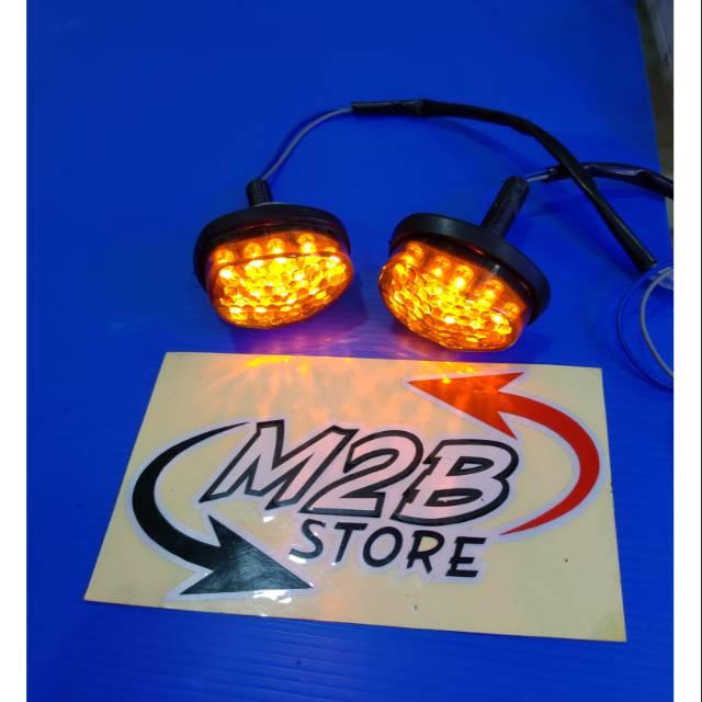 GMA Lampu Sen Sein Tempel Mini CBR 150 250 Ninja 150 RR 250 Karbu FI R15 R25 Model 621 Kuning | Shopee Indonesia