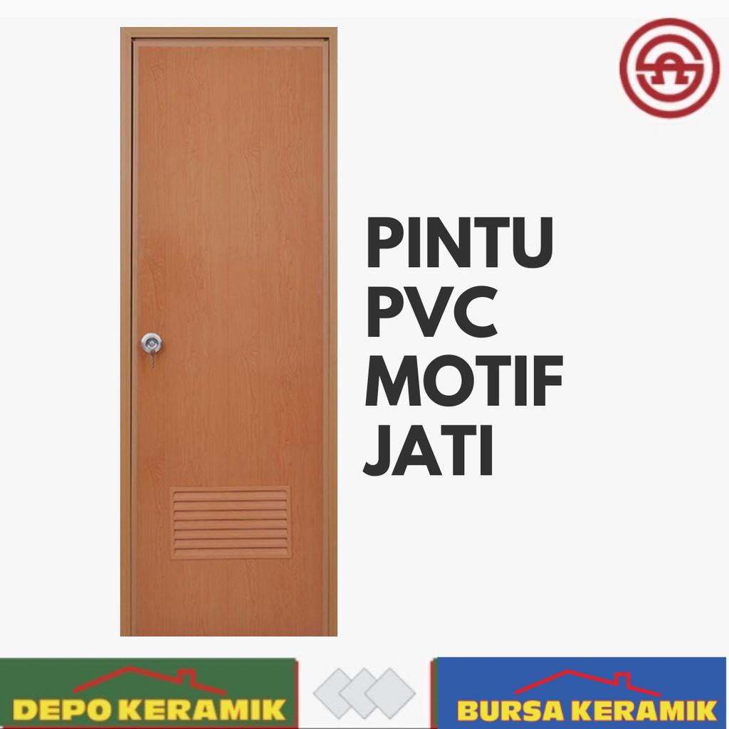 Pintu Pvc Polos Motif Serat Jati Shopee Indonesia Pintu kamar mandi plastik