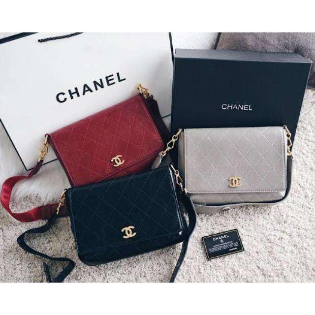 c820c4e77b1c Chanel Classic Mini Square Flap Bag | Shopee Indonesia
