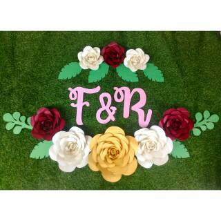 Paper Flower 8 Bunga Free Inisial 2 Huruf Banyak Pilihan Warna Shopee Indonesia