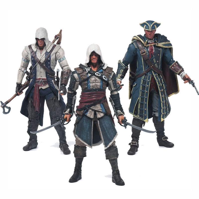 Mainan Action Figure Assassins Creed Seri Creed 4 Connor Mohawk