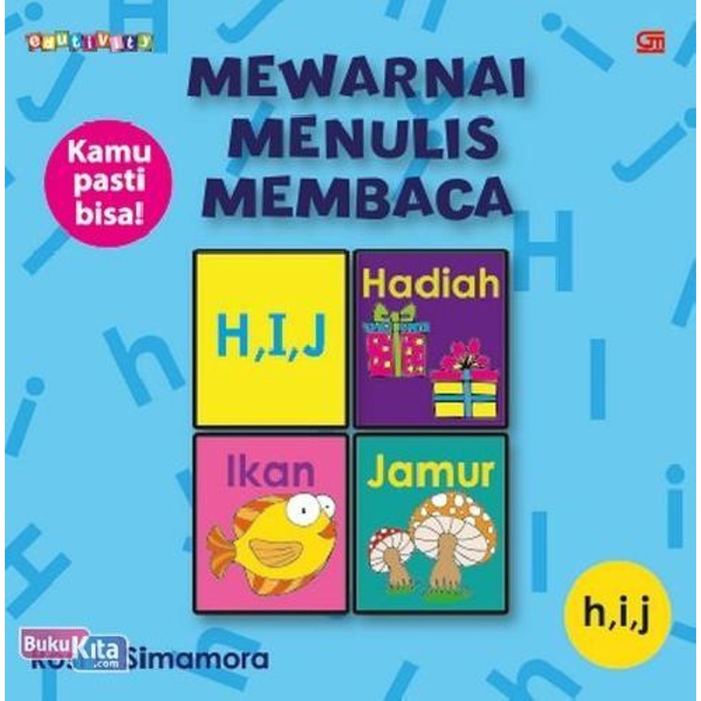 Mewarnai Menulis Membaca Huruf H I J Soft Cover