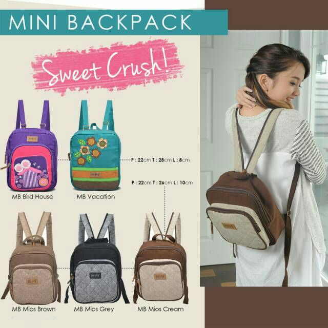 a9892796db Pull   Bear -- Fabric Mini Backpack With Slogan