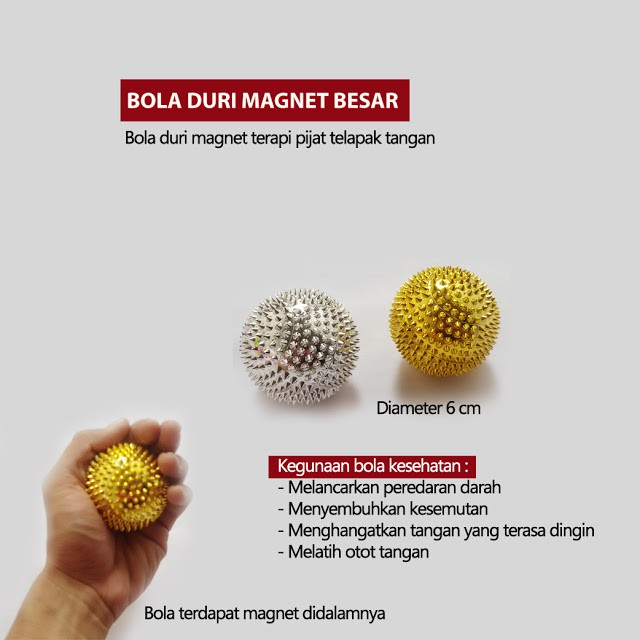 Bola Duri Magnet Kecil Alat Terapi Pijat Peredaran Darah Lancar Keseha | Shopee Indonesia