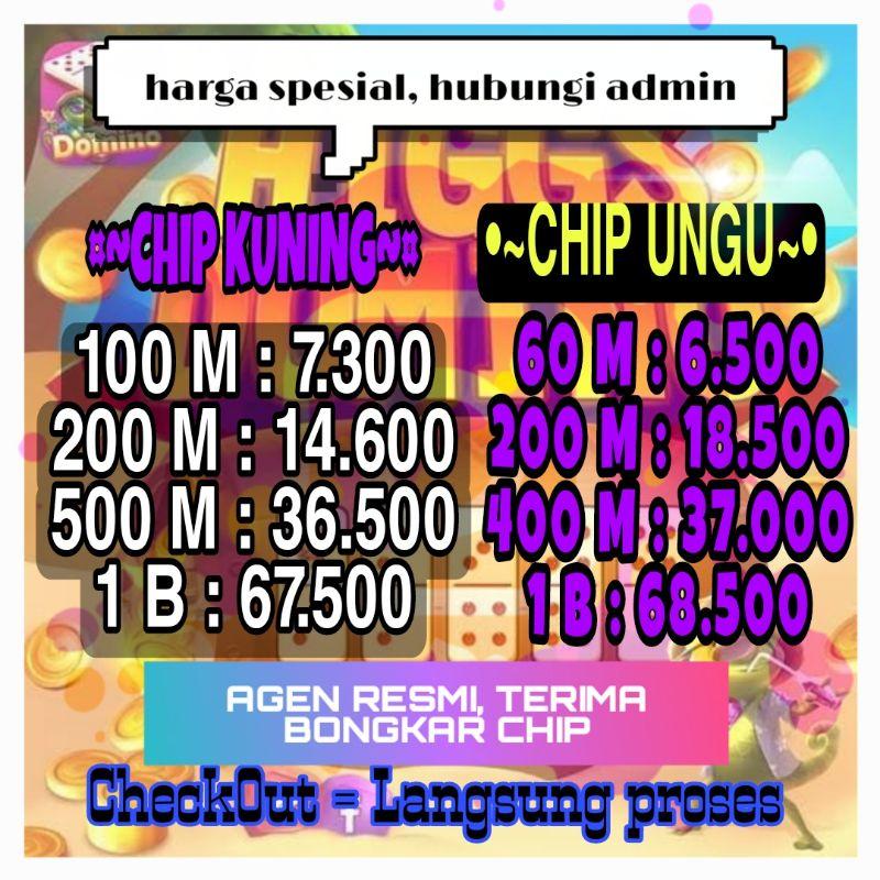 [TERCEPAT] Koin Chip Cip Higgs Domino Island / agen resmi Coin Chip Cip Higgs Domino Island Murah