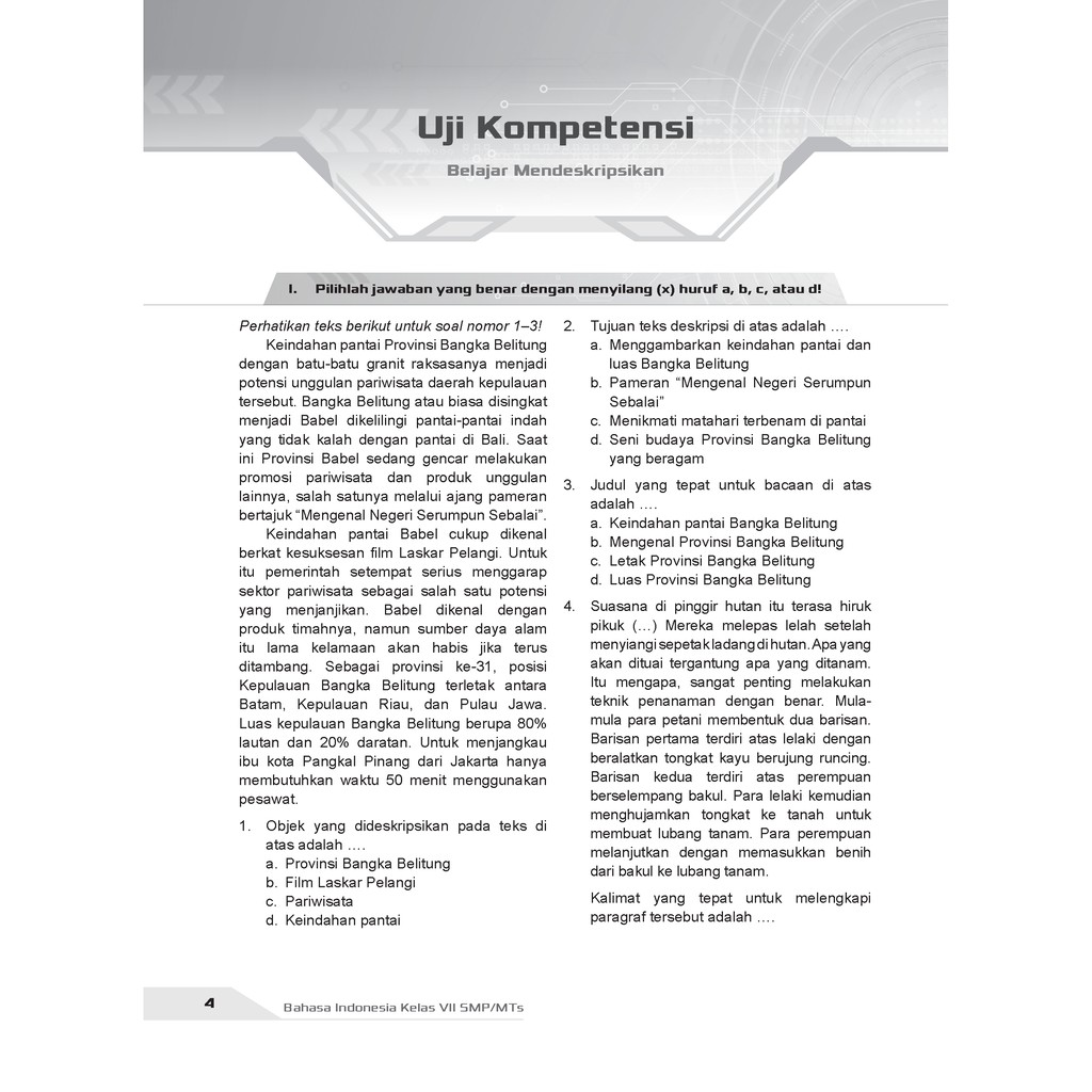 Buku Pendamping Bahasa Indonesia Smp Kelas 7 Kunci Jawaban Incer Shopee Indonesia