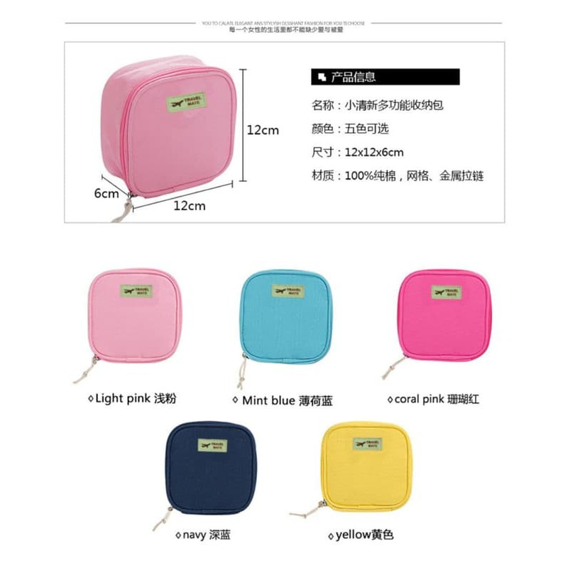 Tas Kosmetik A-101 Korea Motif Abjad Korean Cosmetic Bag Ukuran Kecil | Shopee Indonesia