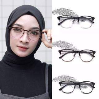 Frame kacamata Roma + lensa minus plus silinder anti radiasi aksesoris wanita  pria sekolah kerja d3fbaa4d13