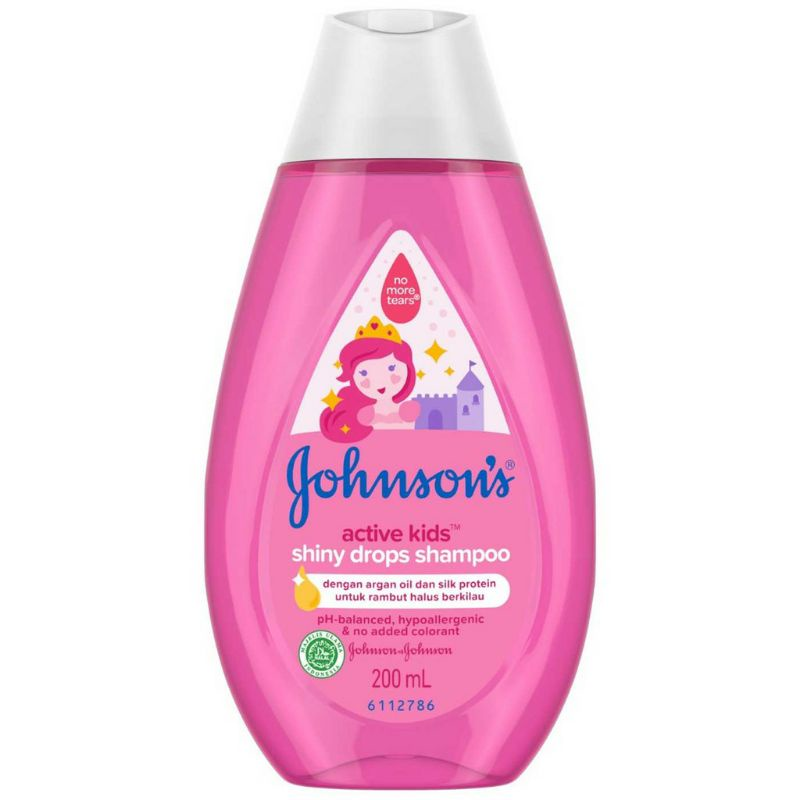 JOHNSON'S Active Kids Shiny Drops Shampoo 200ml.