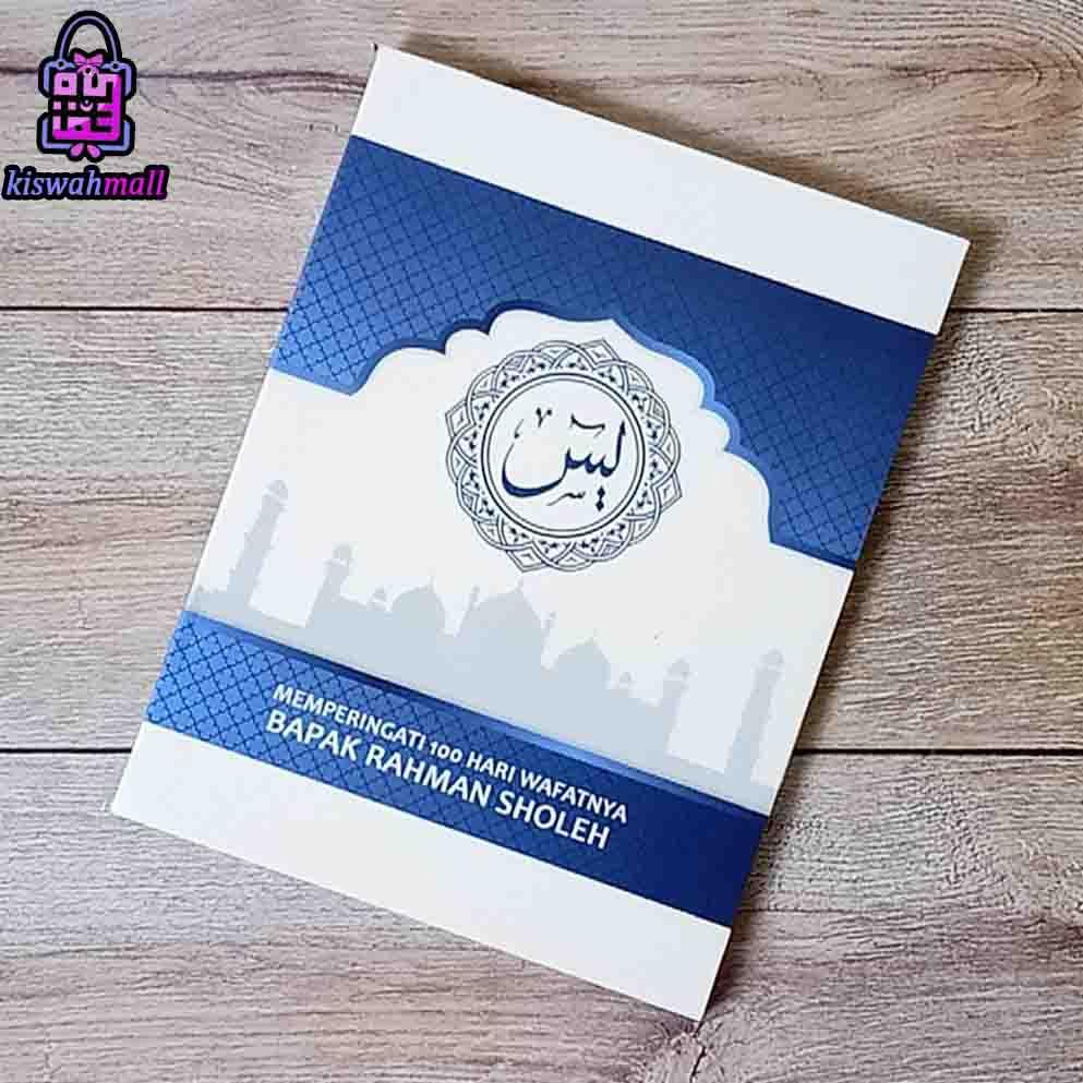 Buku Yasin Murah Soft Cover Putih Minimalis Background Masjid 128 Halaman Shopee Indonesia