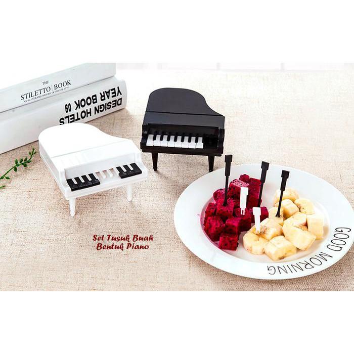 HPD204 - Set Tusuk Buah Bentuk PIANO ( 1 set isi 9 tusuk buah + 1 wadah)   Shopee Indonesia