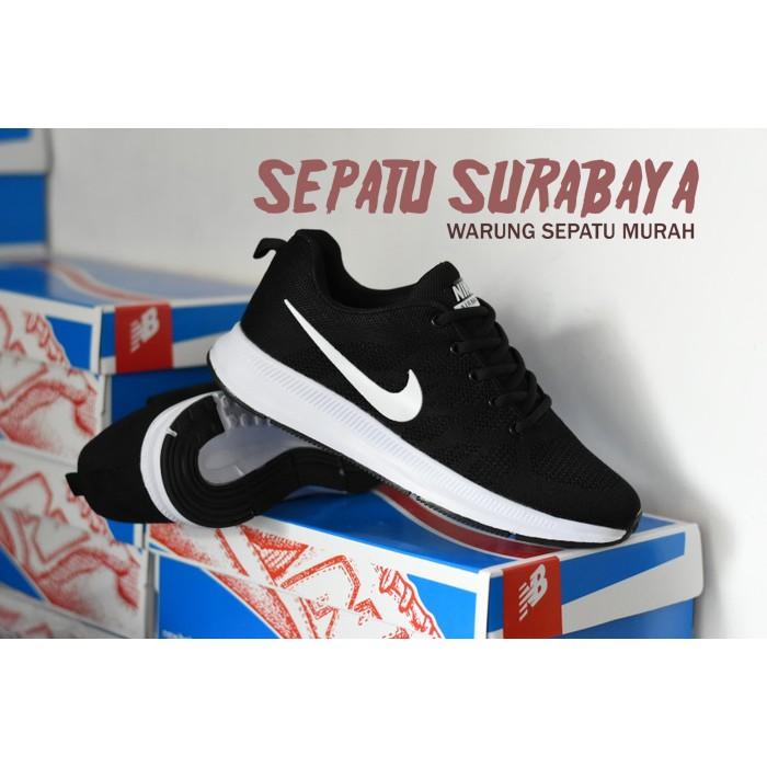 Sepatu Sport Pria Merk Nike Zoom Kualitas Grade Ori Premium Warna Abu Merah   c709ba5c69