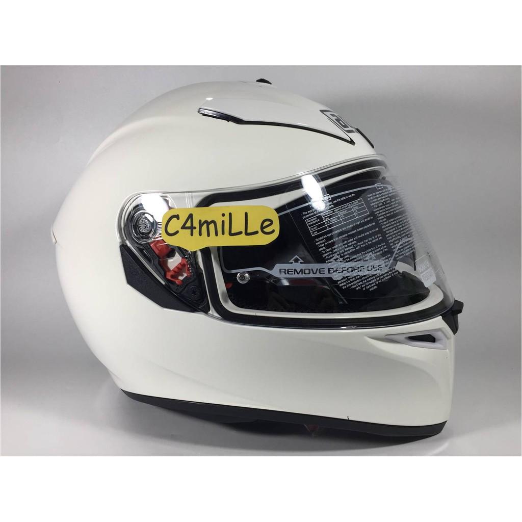 Helm Agv K3 Sv Solid White Double Visor Full Face K 3 Sv Free Pinlock Shopee Indonesia