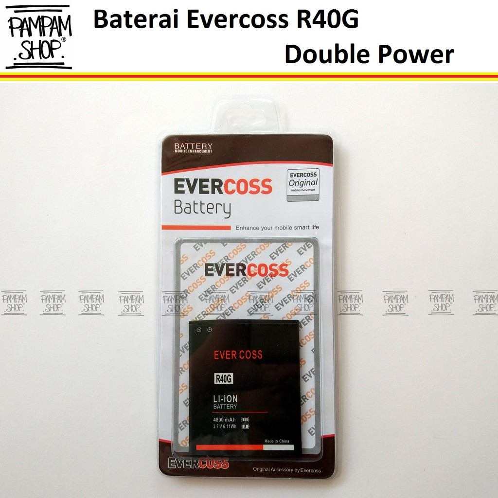 Baterai/Battery Double Power Double Ic Rakkipanda Evercoss Cross A12 / A26 [3000mAh] | Shopee Indonesia