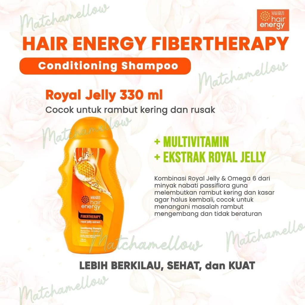 ❄️MATCHA❄️MAKARIZO HAIR ENERGY FIBERTHERAPY CONDI SHAMPOO 170 320 ML SAMPO PEMBERSIH RAMBUT 2IN1-ROYAL JELLY