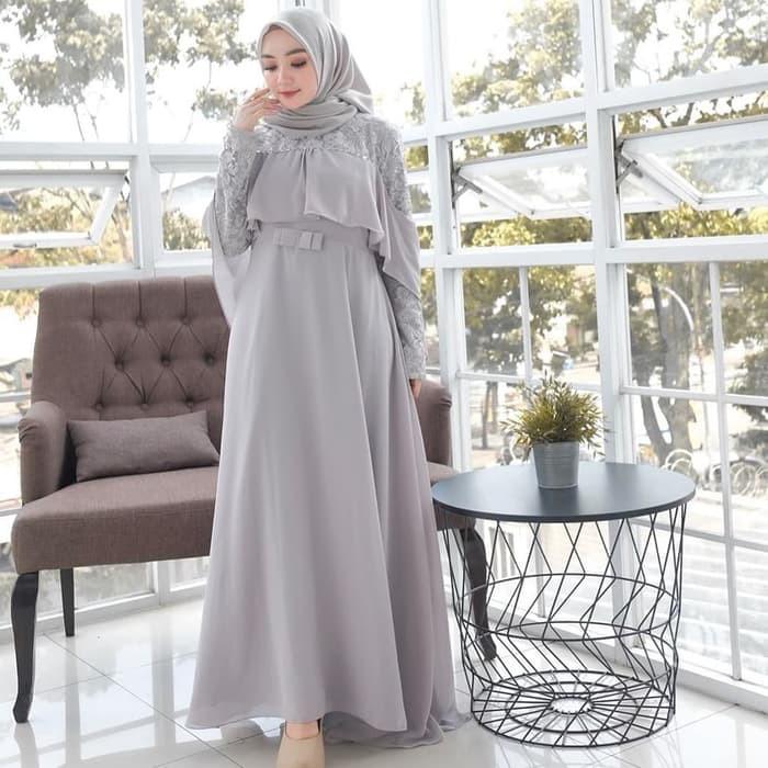 Gamis Lebaran 2020 Remaja Model Gamis Terbaru Maxi Yuni Super Mc608 Sisi Dress Baju Kondangan Dress Shopee Indonesia