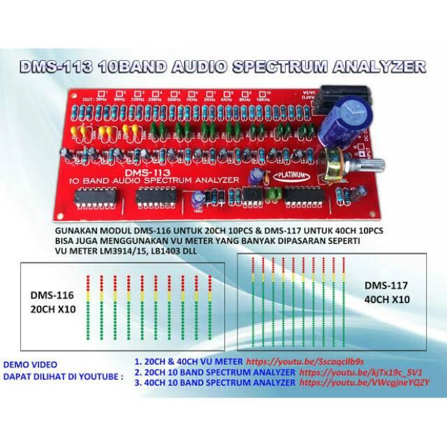 MODULE SPECTRUM ANALYZER 10 BAND DMS-113