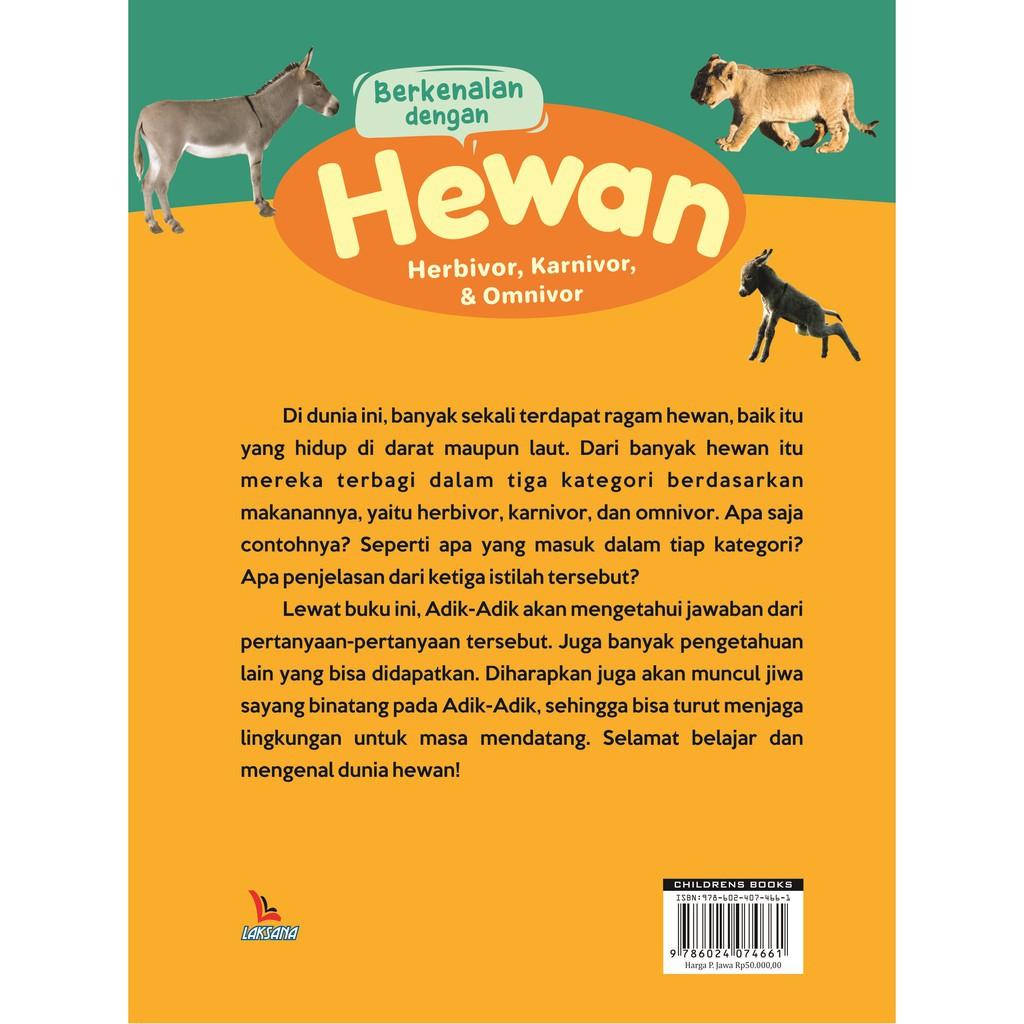 Buku Berkenalan Dengan Hewan Herbivora Karnivora Dan Omnivora Laksana