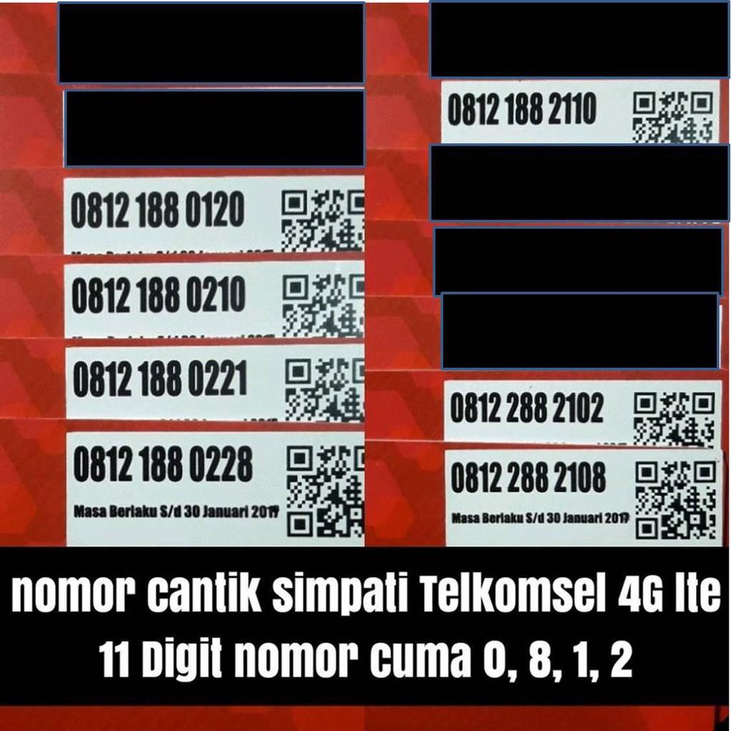 nomer cantik kartu perdana TELKOMSEL 11 digit SIMPATI 4G nano micro standar simcard | Shopee Indonesia