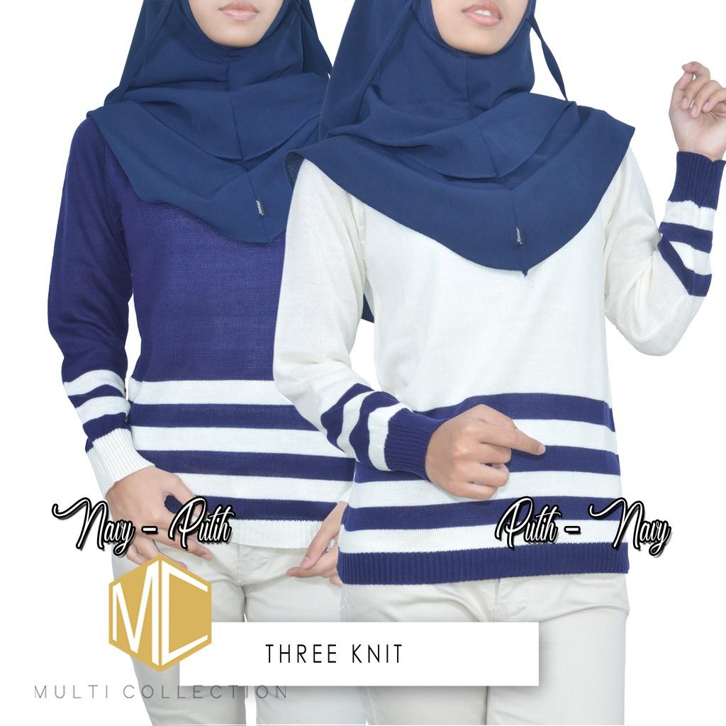 Pocky Saku Baju Rajut Korea Sweater Wanita Grosir Roundhand Secker Sj0015 Pakaian Hijab Atasan Shopee Indonesia