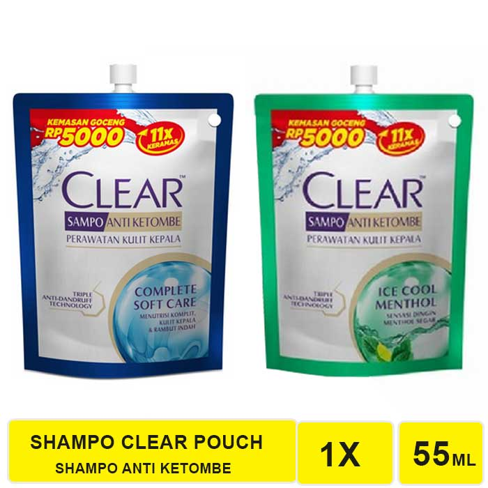 SHAMPO CLEAR COMPLETE SOFT CARE DAN ICE COOL MENTHOL 55 ML