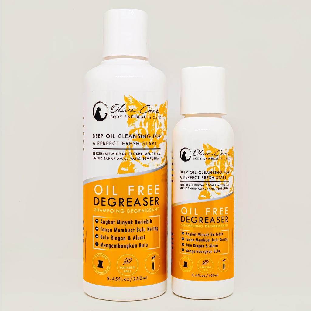 Olive Care Shampo Kucing Oil Free DEGREASER - Angkat Minyak dan Kotoran Berlebih