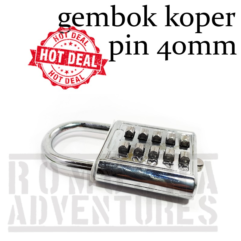 GEMBOK PIN MINI 40 MM ANGKA 5 DIGIT / KUNCI GEMBOK MINI | Shopee Indonesia