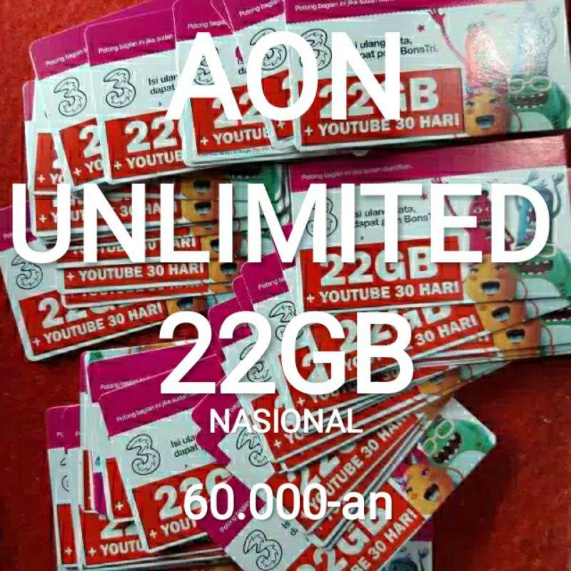 TRI 22GB UNLIMITED YOUTUBE HAPPY 10GB HAPPY 25GB AON 300GB 150GB 80GB 50GB AON UNLIMITED 10GB 6GB
