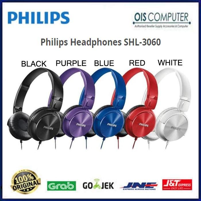 Philips Headphones SHL-3060 Clear and Powerful Bass SHL3060 SHL 3060