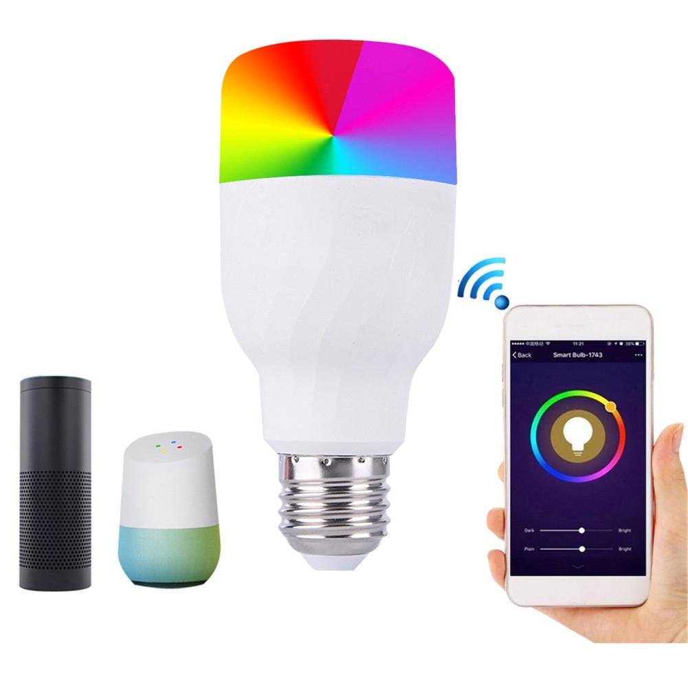 WiFi Smart Light LED Bulb 10W RGBW E27 for Amazon Alexa Google Home App Control
