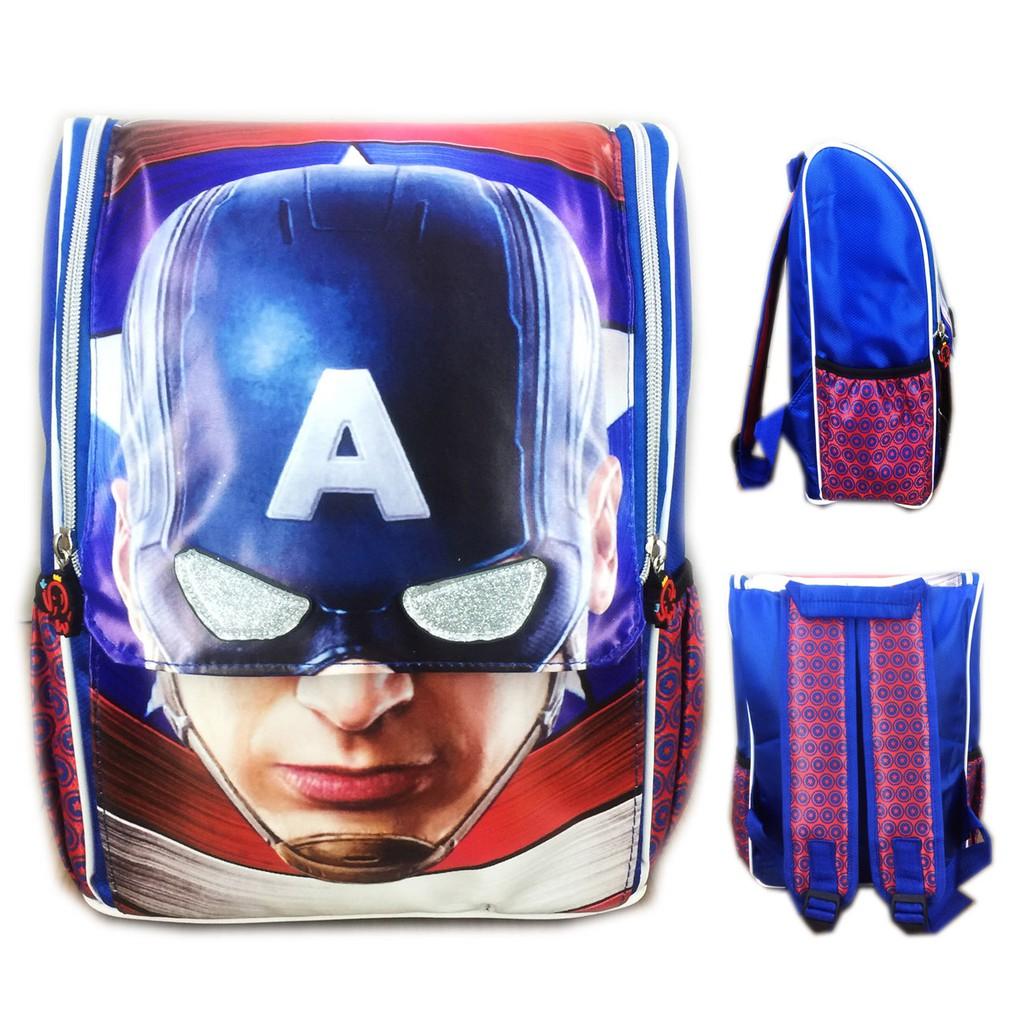 Tas anak sekolah super hero avenger kapten spiderman hulk 3D Timbul sd (jual  jg boneka guling jumbo  881ae7cb41