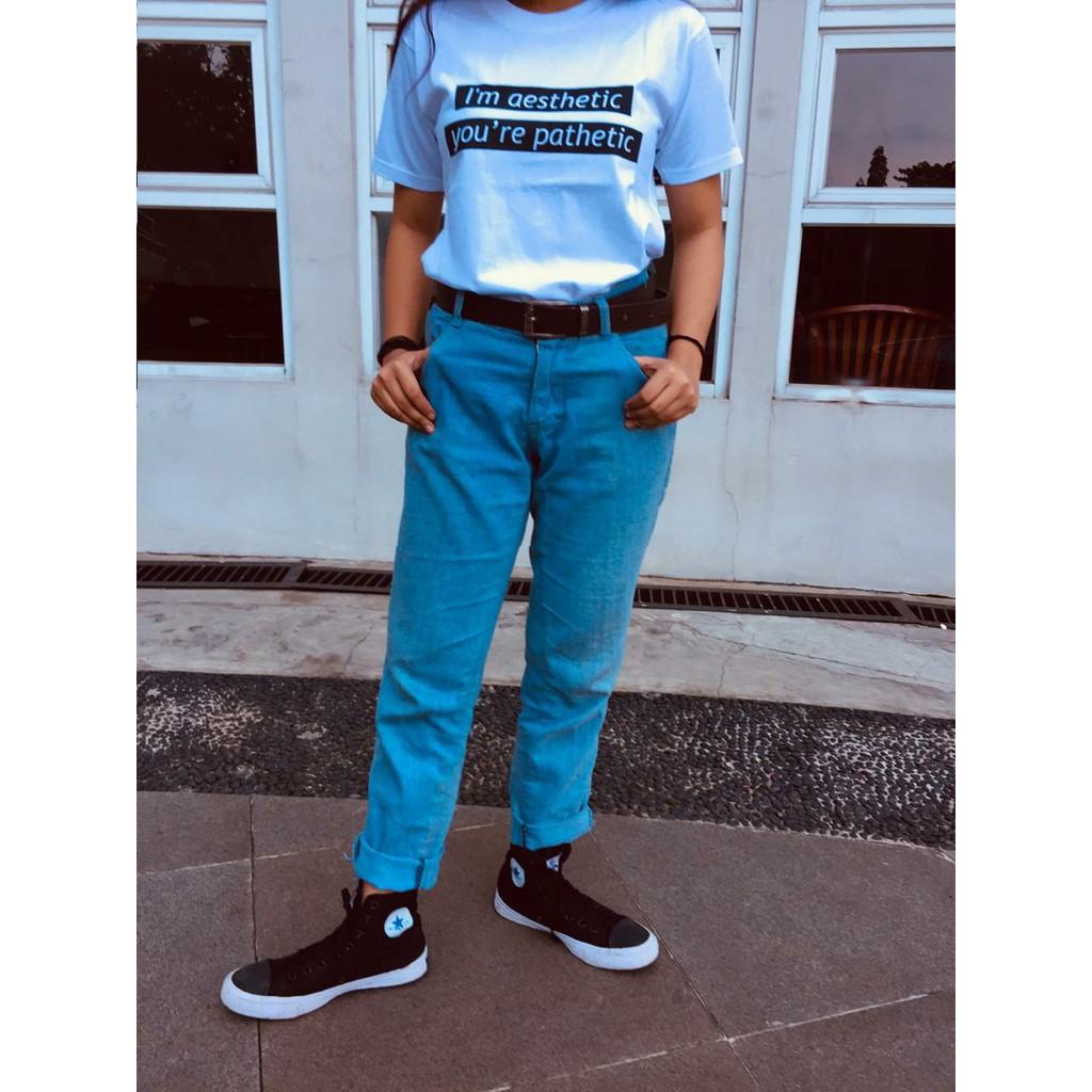 T Shirt I M Aesthetic Shopee Indonesia