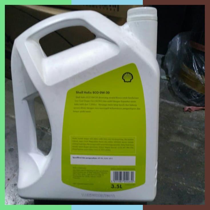 Oli Shell Eco 020w Kemasan 3 5 Liter Jamin 100 Khusus Shopee Indonesia