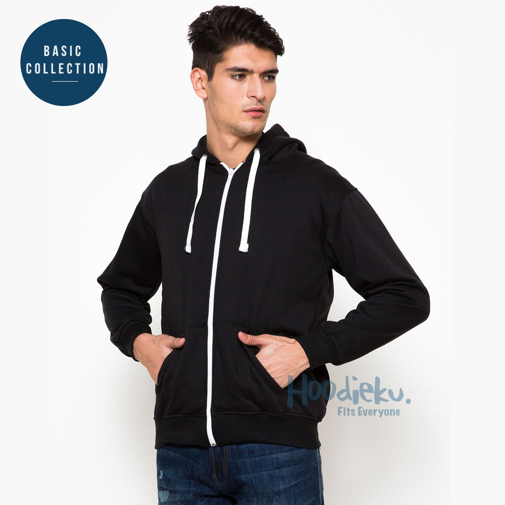 Tyostore Hoodie Zipper Polos Navy Unisex High Quality Shopee Indonesia Jaket Sweater Pria Wanita