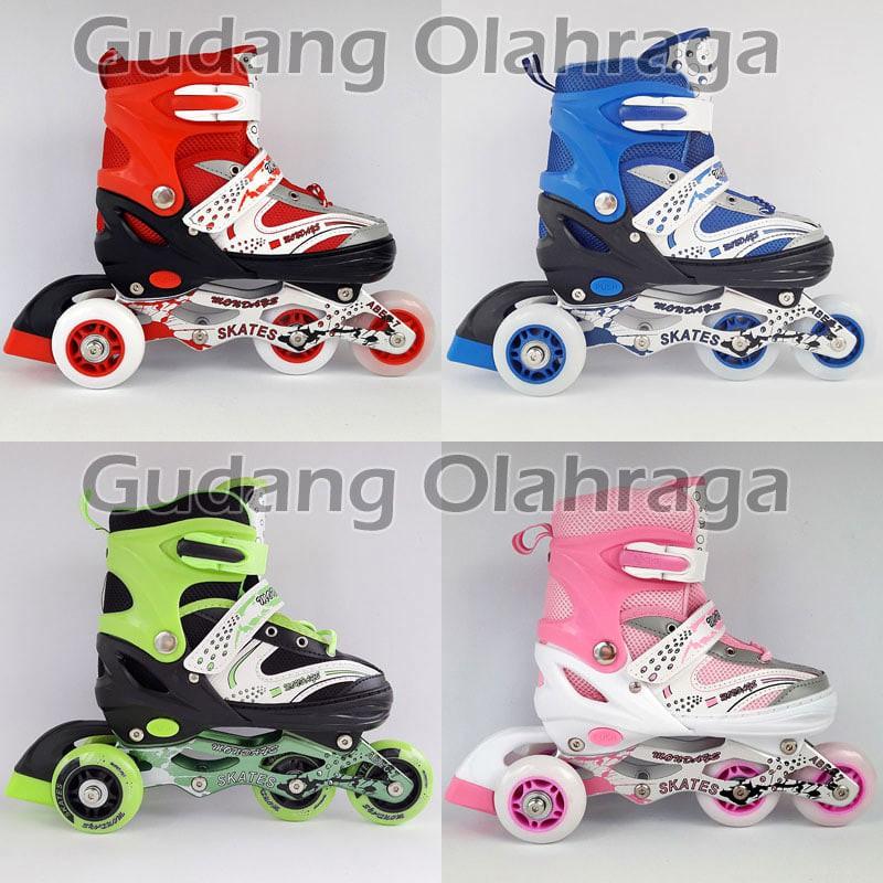 PROMO  Sepatu Roda BAJAJ Ban KARET Anak dan Dewasa   Inline Skate Model  Jahit  3348abdc9b