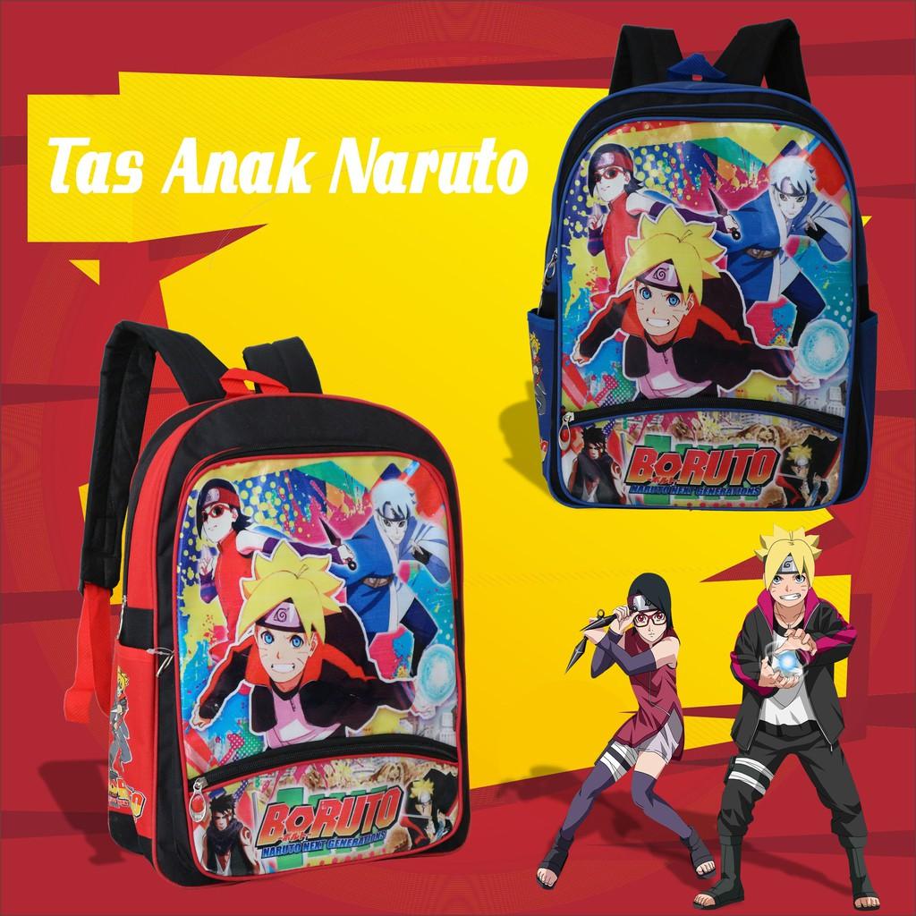 Promo Cuci Gudang Tas Punggung Anak Sekolah Cowok Gambar Kartun Naruto Tk Paud Murah Keren Bagus Shopee Indonesia