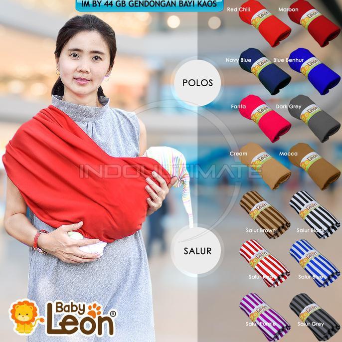 BABY LEON GENDONGAN Bayi Kaos/Geos/selendang Bayi Praktis BY 44 GB Polos Ukuran M - Coklat Susu   Shopee Indonesia