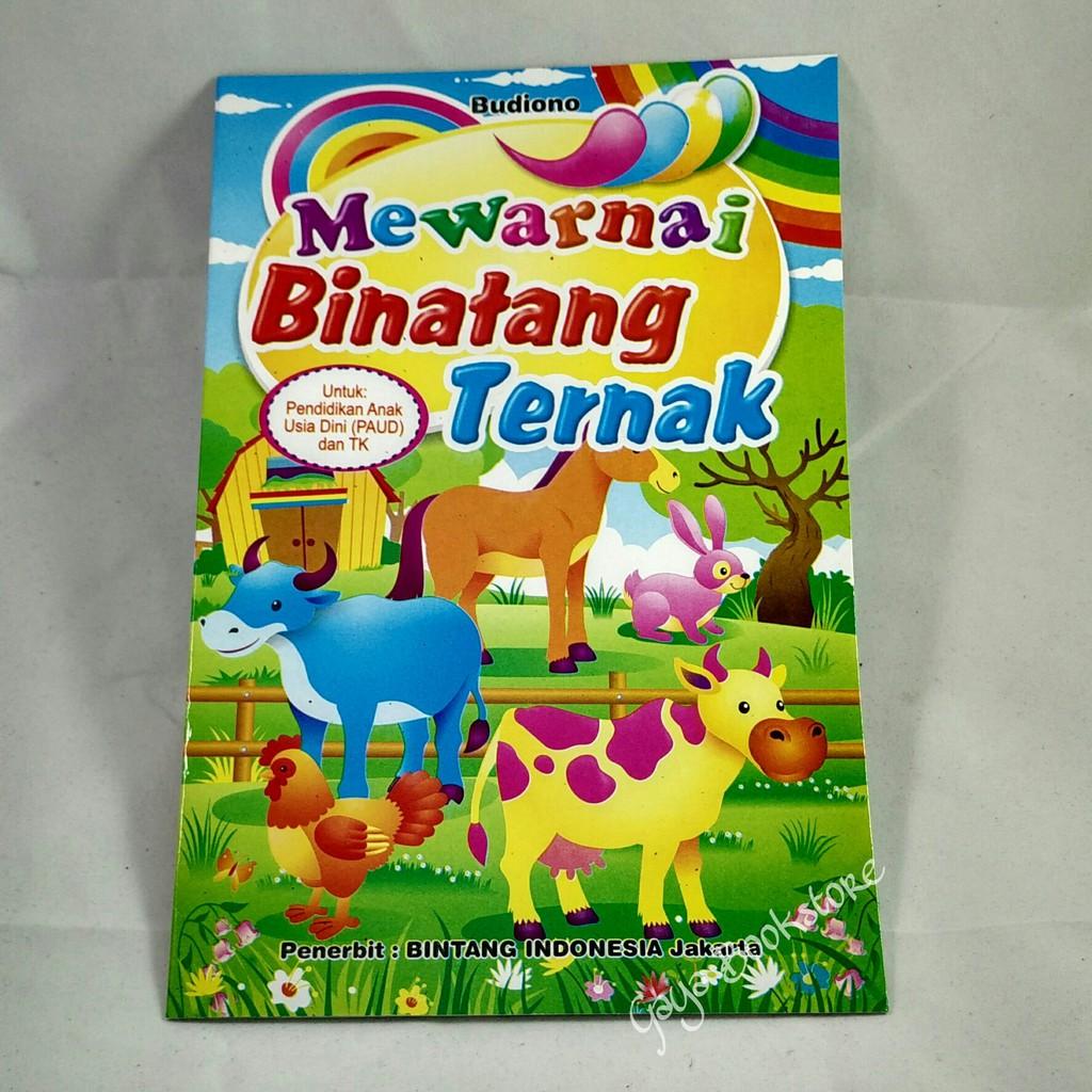 Buku Mewarnai Binatang Ternak Paud & TK Kecil