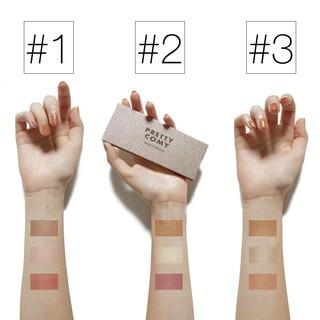 Pretty Comy Makeup Blush On Palet 3 warna Blush Highlight Makeup 2